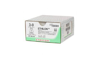Ethilon hechtdraad 1669H 3-0 zwart draad 45cm PS-2 taperpoint multipass hechtnaald 3/8 19mm per 36st