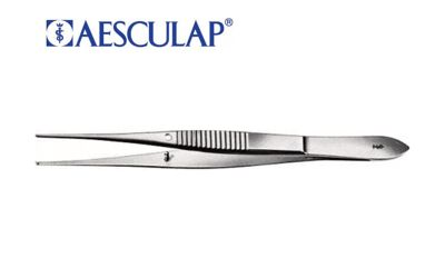 Aesculap fijn chirurgisch pincet 1x2 tands 100mm per stuk