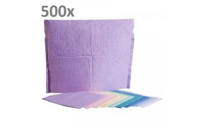 Hoofdsteunzakken 25 x 33 cm (kleur wit) 500 per doos