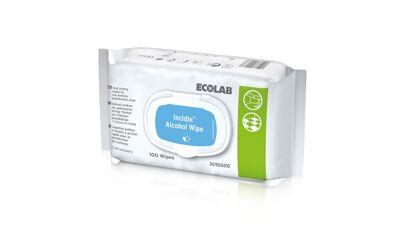 Ecolab incidin alcohol desinfectiedoekjes 20x20cm per 100st.