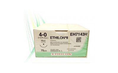 Ethilon hechtdraad 4-0 75cm zwart, FS-2 naald EH7143H 36st