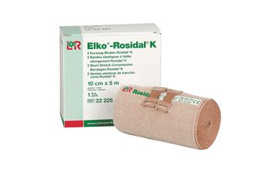 Elko Rosidal K korte rek zwachtels 2st. 10cmx5m met verbandklemmen