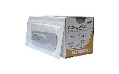 Ethicon Bonewax W31C 2.5 gram per 12st. verpakt
