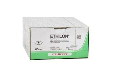 Ethilon hechtdraad 664H 2-0 met FS naald 45cm draad per 36st.