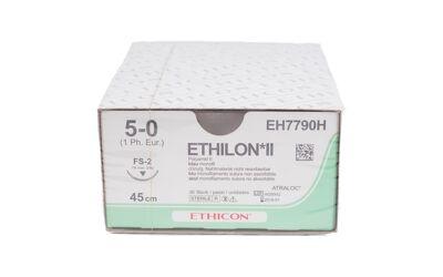 Ethilon hechtdraad 5-0 met PS-3 naald per 36st.