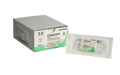 Ethilon hechtdraad 5-0 FS-3 naald EH7823H per 36st.