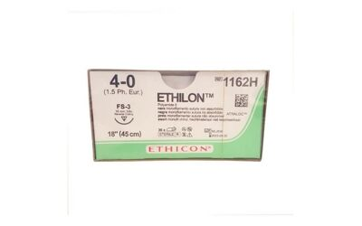 Ethilon hechtdraad 4-0 FS-3, 16mm lang, 3/8 36st 1162H