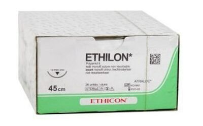 Ethilon hechtdraad EH7663H 5-0 45cm PS-3 naald per 36st