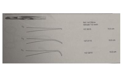 RK fijn chirurgisch pincet 10,5cm lang