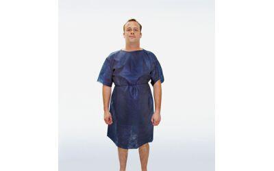 Foliodress patiëntenhemd met korte mouwen blauw per doos a 100st.