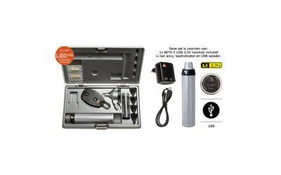 Heine Diagnostische Set Beta400 LED FO Otoscoop Beta200 LED Opthalmoscoop USB