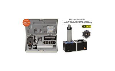 Heine Diagnostische Set Beta 100 Otoscoop Beta 200 LED Opthalmoscoop NT4 Tafellader