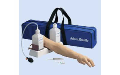 Huid en ader voor injectiearm Adam R.