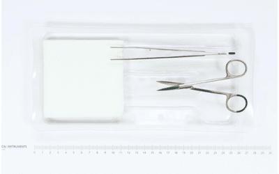 Medica Europe onthechtset met irisschaar en anatomisch McIndoe pincet per stuk