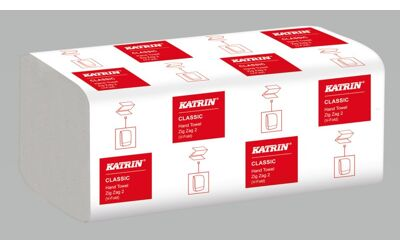 Katrin Classic papieren handdoek ZigZag V-fold 200st 20 pakken