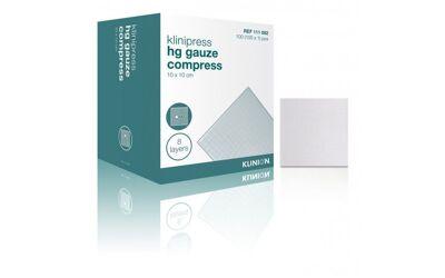 Klinion hydrofiel gaaskompres 10x10cm 8 laags per 50x2st steriel