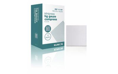 Klinion HG compres steriel verpakt gaaskompres 12 lgs