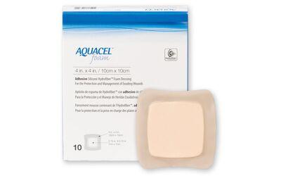 Aquacel Foam schuimverband met plakrand 10x10cm per 10st.