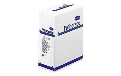 Foliodrape gatdoek steriel  75x90cm met 7cm gat en plakstrook 40st.