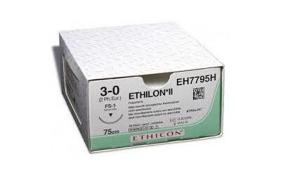 Ethilon hechtdraad 3-0 FS2 naald EH7792H 45cm lang blauw 36st.