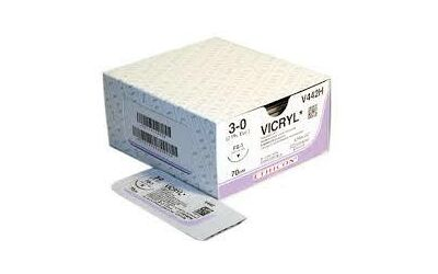 Vicryl hechtdraad 3-0 FS2 naald V293H 45cm draad per 36st.