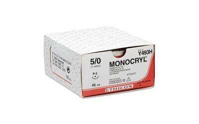 Monocryl hechtdraad 5-0 P3 naald Y493H 70cm draad ongekleurd per 36st.