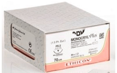 Monocryl Plus usp 3-0 70cm PS-2 Prime ongekleurd MCP4271H 36st
