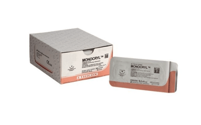 Monocryl hechtdraad 4-0 70cm ongekleurd FS-2 Y4225 36x
