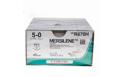 Mersilene hechtdraad R670H 5-0 groen FS-3 naald 45cm per 36st verpakt