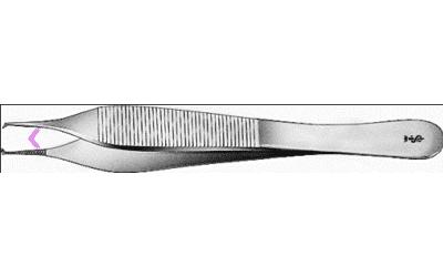Aesculap Pincet Adson Chirurgisch 120mm recht fijn