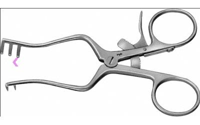 Aesculap Weitlaner wondspreider 110mm 2x 3 tands semi-scherp