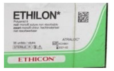 Ethilon hechtdraad 4-0 EH7793BH 75cm zwart, FS-2S naald 36st