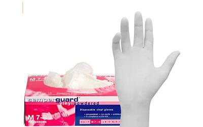 Semperguard vinyl handschoen Large gepoederd per 100st.