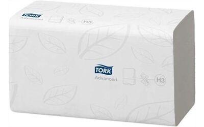 Tork handdoek 290163 H3 advanced Z-vouw, 2 laags 24.8x23cm per 15x250st.