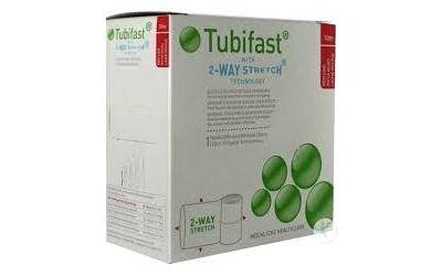 Tubifast buisverband 10m x 3,5cm rood per stuk
