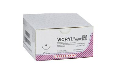 Vicryl Rapide 3-0 SH1 naald V2190H per 36st. 70 cm draad