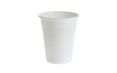 Plastic bekertjes wit 180ml per 3000st.