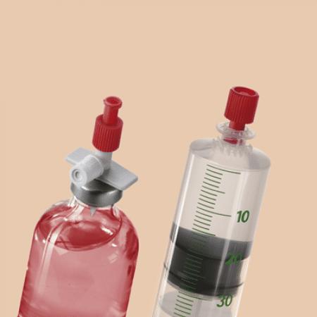 Afsluitdopje voor spuit combistopper per 100st rood
