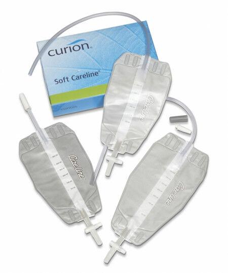 Curion soft careline urinebeenzak per 10st. 750ml 50cm slang 10st