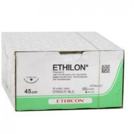 Ethilon hechtdraad EH7665H 3-0 zwart draad 75cm PS-2 taperpoint hechtnaald 3/8 19mm per 36st