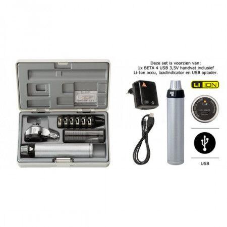 Heine otoscoopset Beta 100 USB handvat