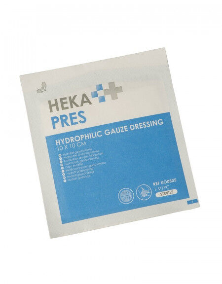 Hekapres hydrofiel gaaskompres 10x10cm per 100st. steriel