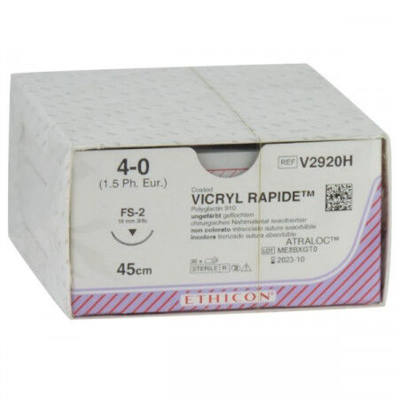 Vicryl Rapide hechtdraad 4-0 FS2S naald V2920H per 36st. 45 cm draad