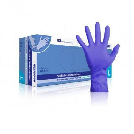 Klinion protection handschoen latexvrij sensitive indigo per 150st. S