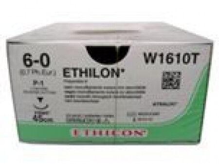 Ethilon hechtdraad 6-0 C2 naald 667H 45cm zwart per 36st.