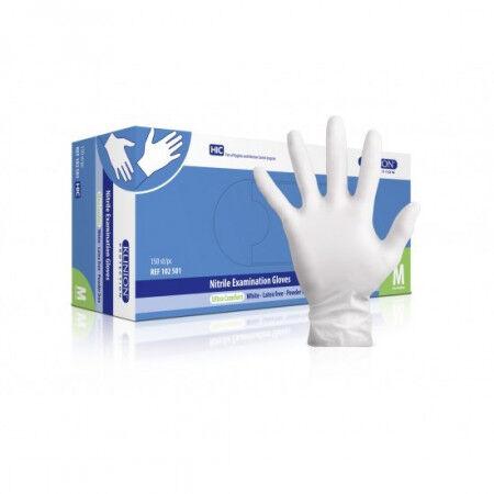 Klinion Nitrile Witte handschoenen per 150st. Medium