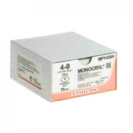 Monocryl hechtdraad 4-0 P3 naald Y494H 45cm per 36st.