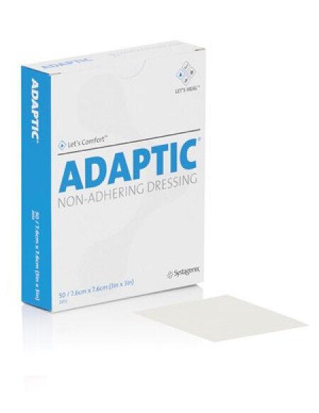 Adaptic zalfkompres 7,6x7,6cm per 10st.