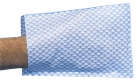 Disposable Washandjes blauw wit gestreept per 20x50st.