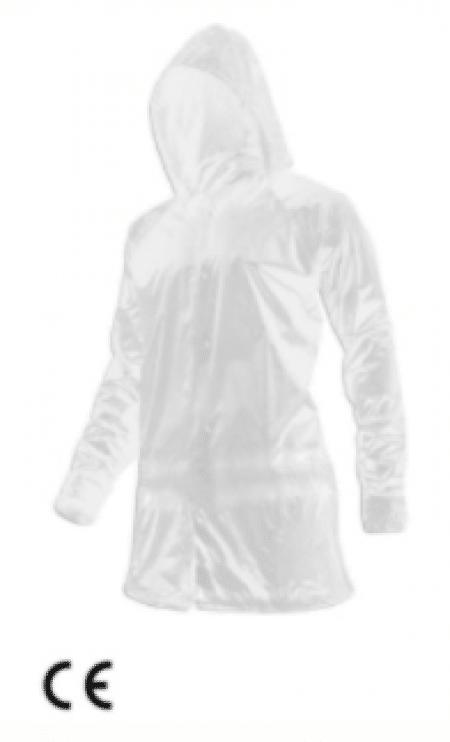 PE wegwerp jas met lange mouwen per 10st.